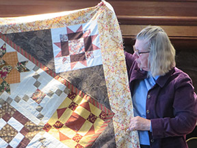 Carol with Charity quilt
