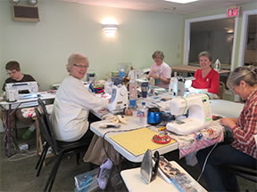 sewing at the retreat
