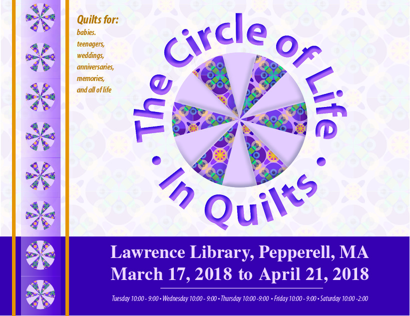 Lawrence Library quilt show, theme The circle of life in quilts